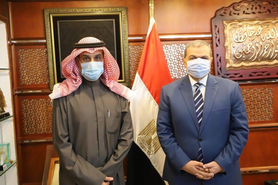 سعفان والمطيري يبحثان استعدادات عقد مؤتمر العمل العربي في دورته المقبلة