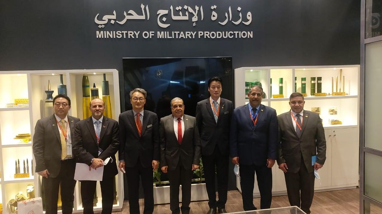 صور | وزير الإنتاج الحربي يبحث مع شركة هانوا تكوين الكورية سبل التعاون المشترك