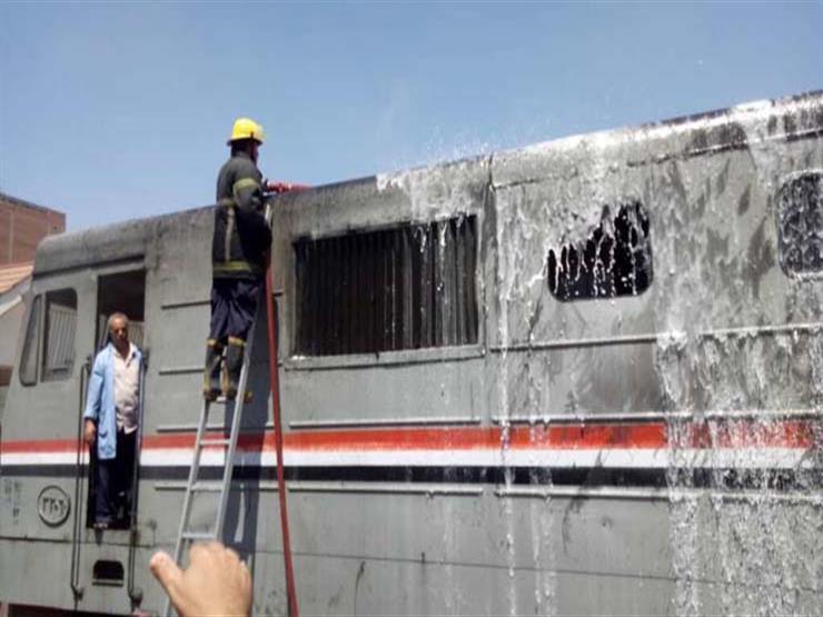"""بيان من السكة الحديد بشأن حريق قطار """"السويس – القاهرة"""""""