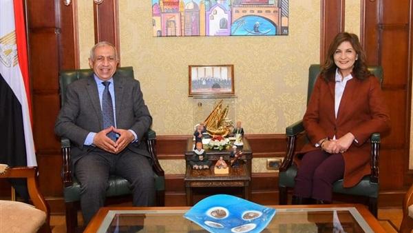 وزيرة الهجرة تستقبل رئيس الأكاديمية العربية للنقل البحري