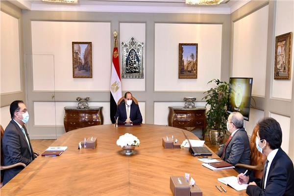 الرئيس السيسي يستعرض الموقف التنفيذي لإستراتيجية تطوير مصانع وشركات الإنتاج الحربي
