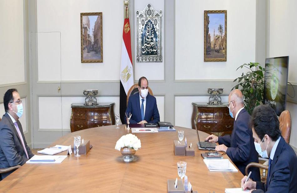 الرئيس السيسي يطلع على الموقف التنفيذي لمشروعات وزارة النقل