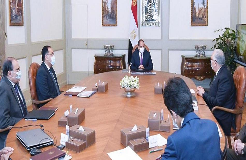 """الرئيس السيسي يوجه بالبدء الفوري في مشروع """"الدلتا الجديدة"""" بمساحة مليون فدان"""