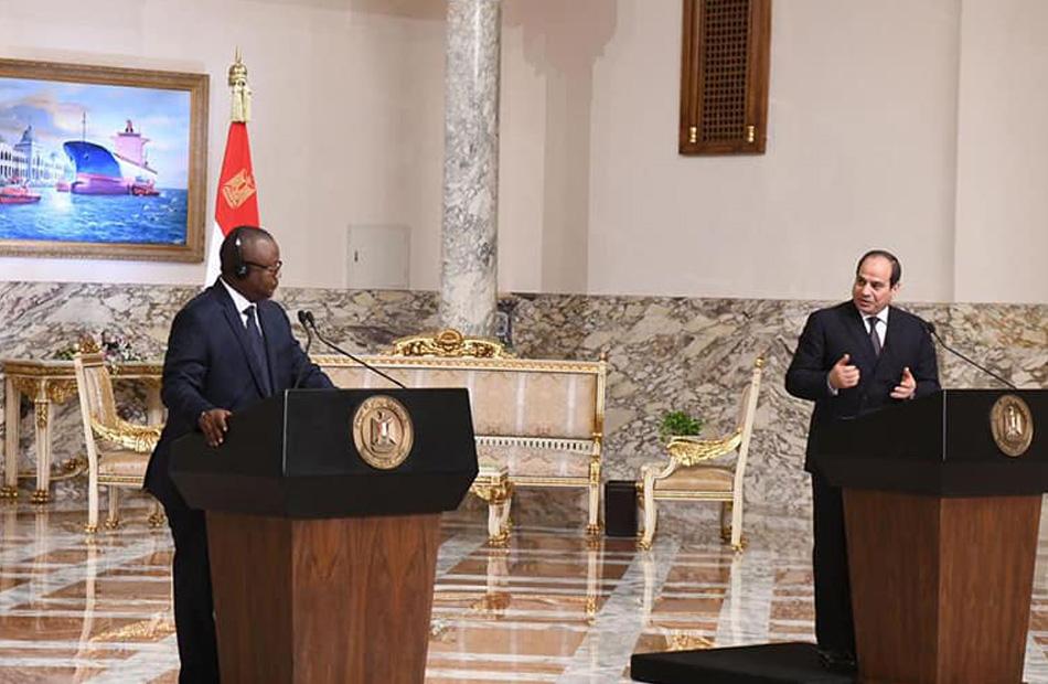 فيديو| كلمة الرئيس السيسي ورئيس غينيا بيساو خلال المؤتمر الصحفي المشترك
