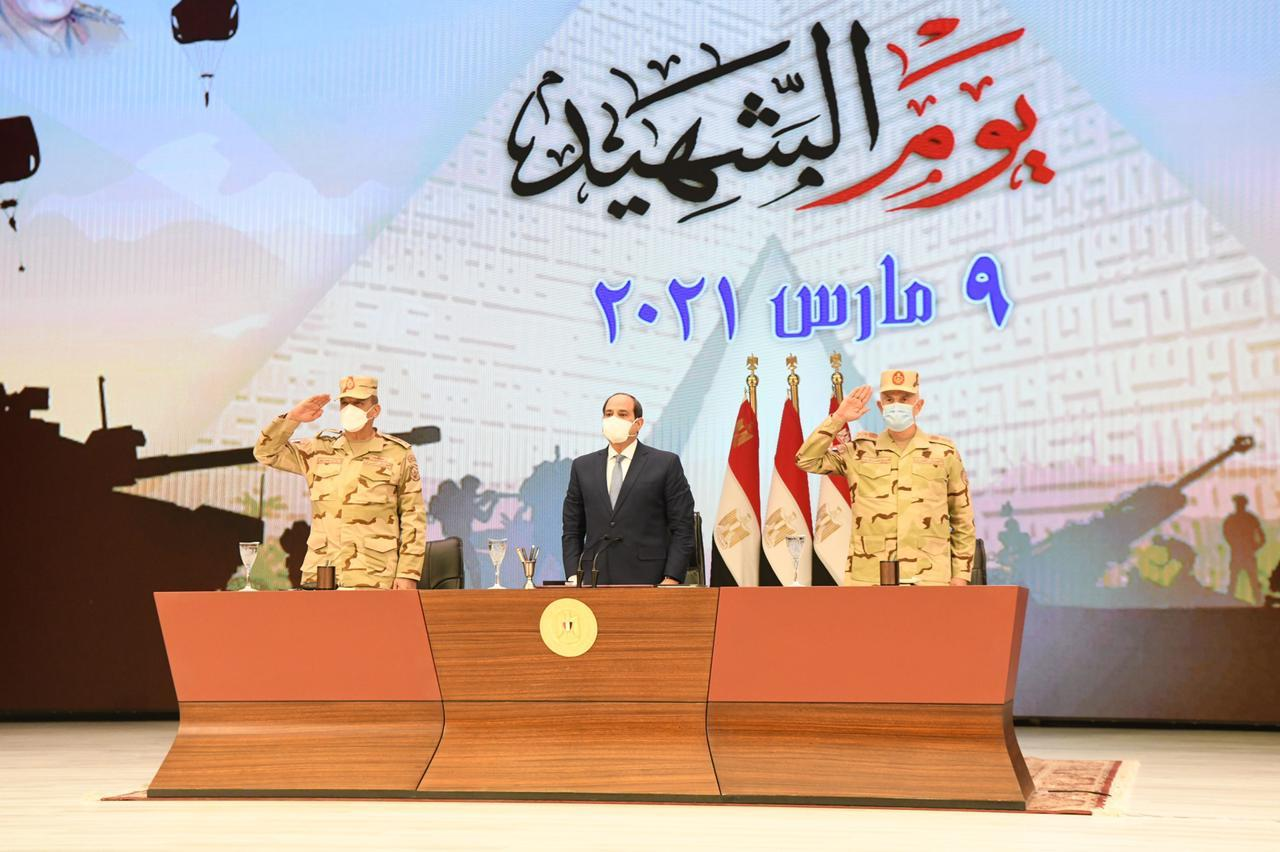 """كلمة الرئيس السيسي في ذكرى """"يوم الشهيد"""" تتصدر عناوين صحف القاهرة"""