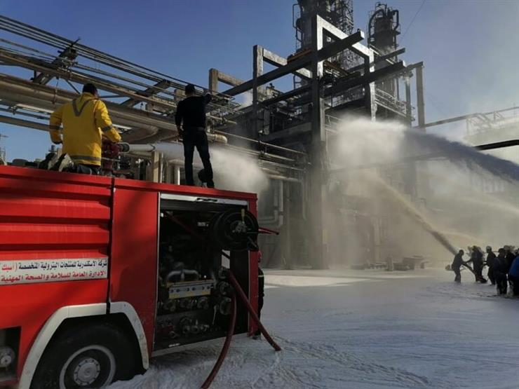 نشوب حريق في شركة العامرية للبترول بالإسكندرية