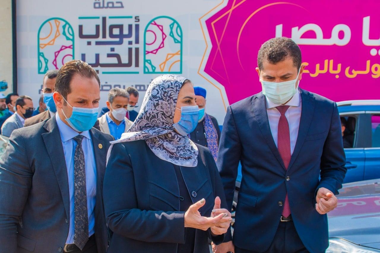 صور| صندوق تحيا مصر يطلق حملة أبواب الخير بالشراكة مع وزارة التضامن الاجتماعي