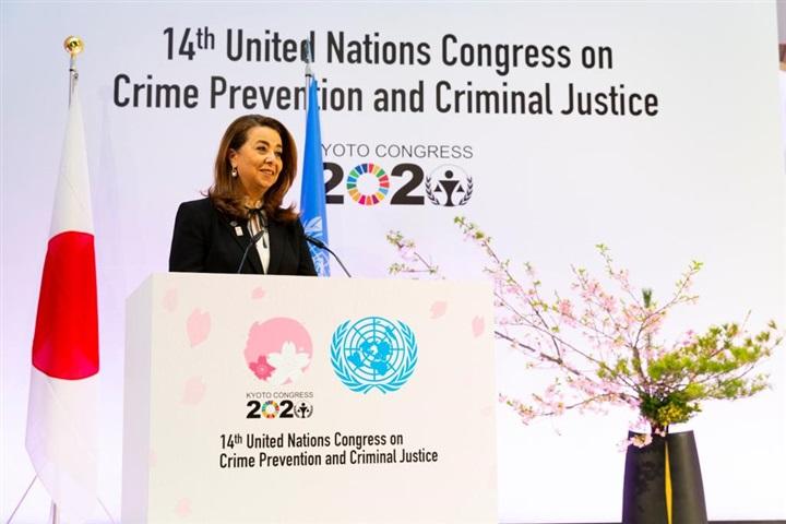 صور  رئيس وزراء اليابان وغادة والي يفتتحان مؤتمر الأمم المتحدة لمنع الجريمة والعدالة الجنائية