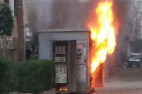 الحماية المدنية تسيطر على حريق فى محول كهرباء بـ 15 مايو