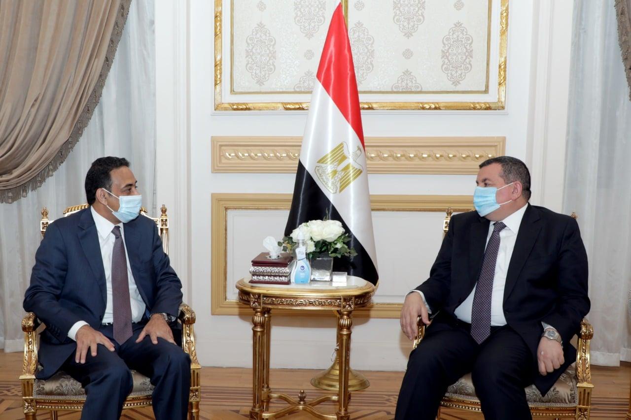 """""""هيكل"""" يستقبل السفير العمانى بالقاهرة"""