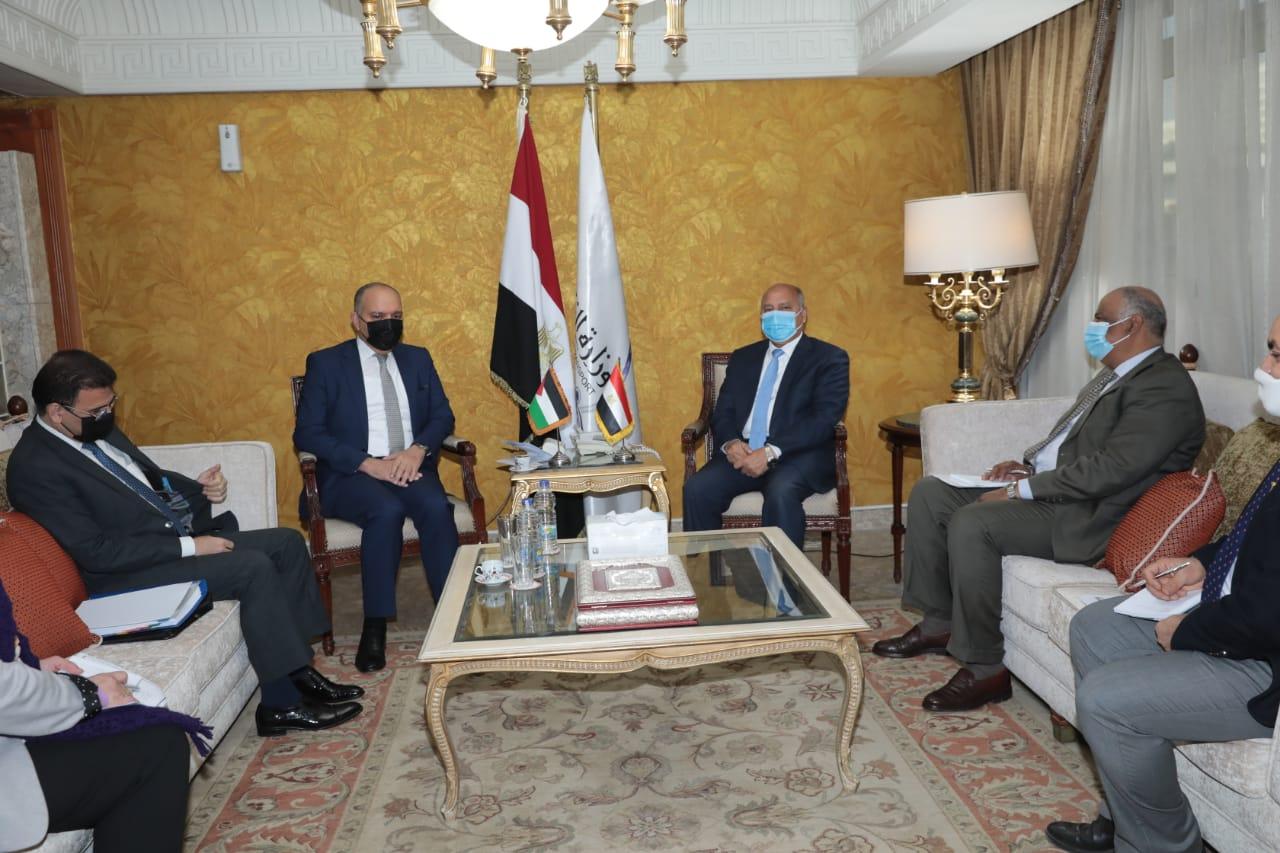 وزير النقل - السفير الاردني بالقاهرة