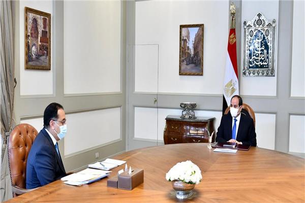 الرئيس السيسي يطلع علي نتائج الزيارة التي قام بها الدكتور مصطفى مدبولي إلى ليبيا