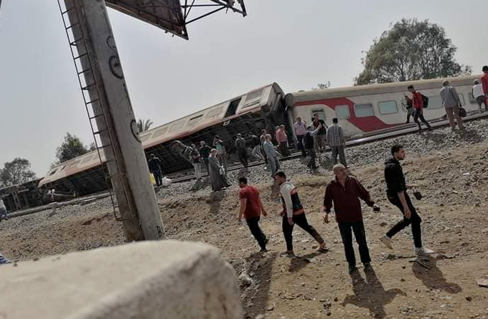 """الصحة والسكان: وفاة 11 شخصًا وإصابة 98 في حادث """"قطار طوخ"""""""