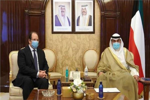 رئيس وزراء الكويت يستقبل الوزير عباس كامل رئيس جهاز المخابرات العامة المصرية
