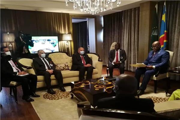 وزير الخارجية يسلم رئيس الكونغو رسالة من الرئيس السيسي