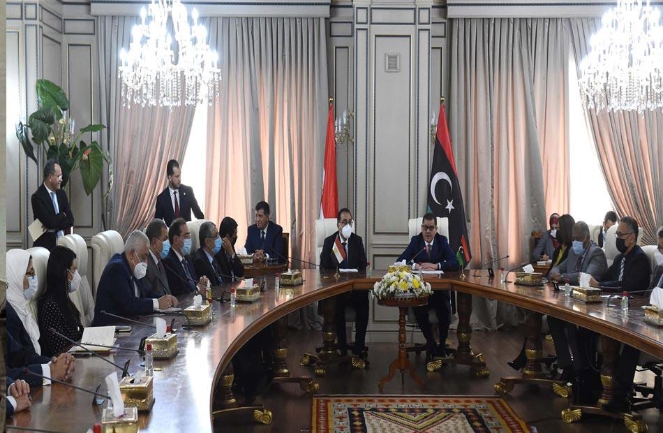 دولة رئيس الوزراء يقدم الشكر لنظيره الليبي لدعمه ملف المياه والأمن القومي المصري