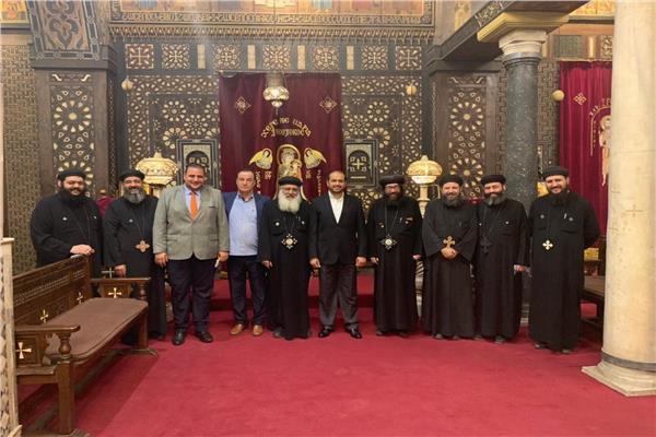 سفير دولة الإمارات يزور منطقة «كنائس» مصر القديمة