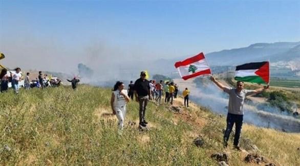 إسرائيل تطلق قذيفتين لمنع متظاهرين من التقدم نحو الحدود اللبنانية الإسرائيلية