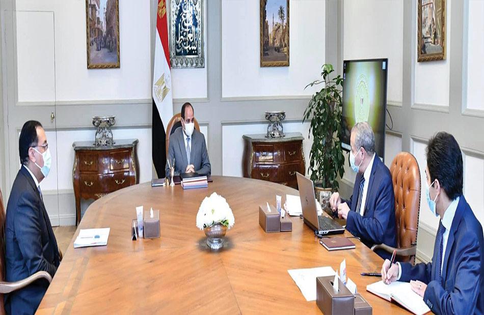 الرئيس السيسي يتابع المخزون الاستراتيجي من السلع التموينية الأساسية وخطة تطوير منظومة المخابز