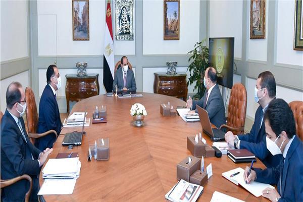 تفاصيل اجتماع الرئيس السيسي لمتابعة الموقف التنفيذي لعدد من مشروعات التطوير بوزارة المالية