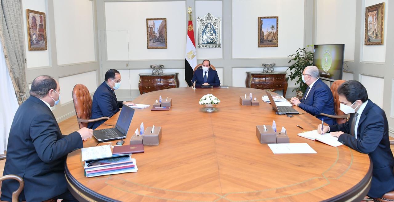 تفاصيل متابعة الرئيس السيسي لعدد من المشروعات القومية التابعة لوزارة الزراعة