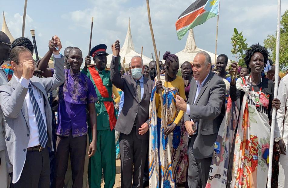 وزير الري يفتتح محطة مياه الشرب الجوفية التي أنشأتها مصر في جنوب السودان