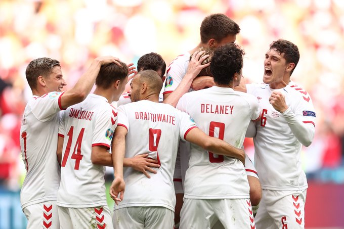 الدنمارك تتأهل لدور الثمانية بعد الفوز على ويلز في يورو 2020