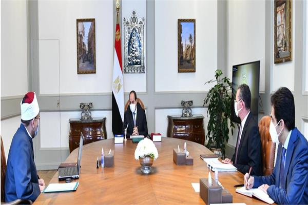 تصريحات الرئيس بشأن إزالة التعديات على أملاك الأوقاف تتصدر صحف القاهرة