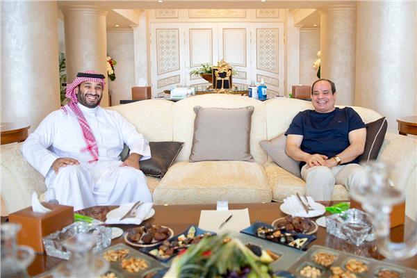 الرئيس السيسي: سعدت اليوم بلقاء أخي الأمير محمد بن سلمان ولي العهد السعودي