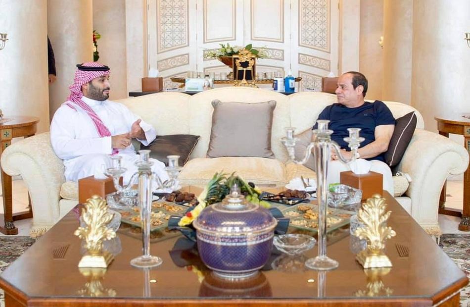 الرئيس السيسي يلتقي الأمير محمد بن سلمان في مدينة شرم الشيخ