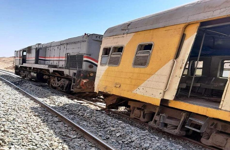 بيان اعلامي من السكة الحديد حول تصادم جرار بقطار ركاب بمنطقة السد العالي جنوب أسوان
