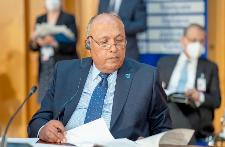 كلمة وزير الخارجية في مؤتمر «برلين ٢» حول ليبيا