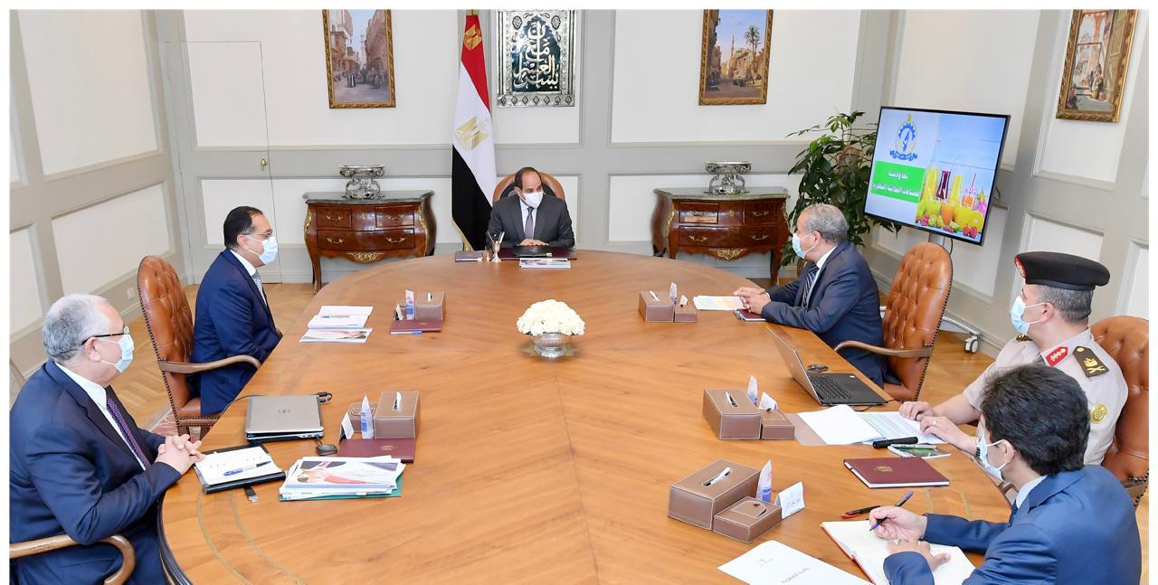 الرئيس السيسي يتابع موقف المخزون الاستراتيجي من السلع التموينية الأساسية