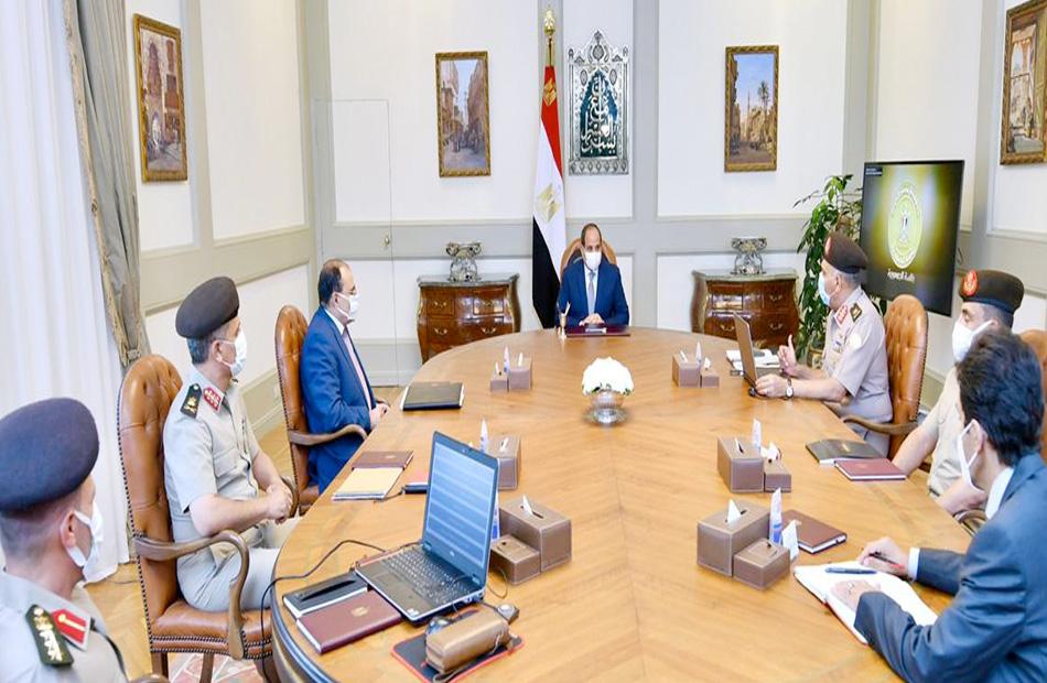 الرئيس السيسي يتابع الموقف الإنشائي والهندسي لعدد من مشروعات الهيئة الهندسية على مستوى الجمهورية