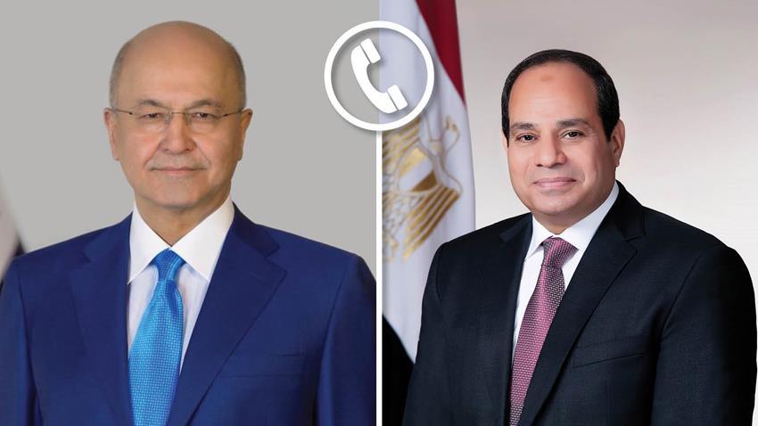 الرئيس السيسي يجري اتصالًا هاتفيًا مع الرئيس العراقي