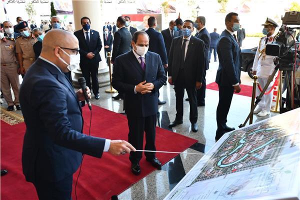 الرئيس السيسي يتابع الموقف التنفيذي لمدينة الفنون في العلمين الجديدة