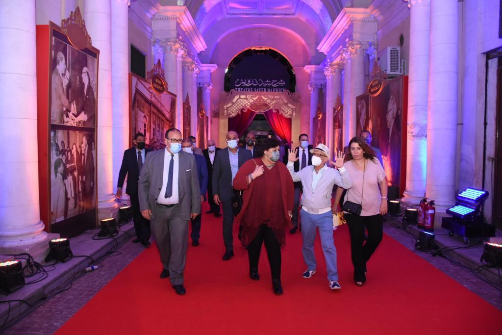 صور| بحضور وزيرة الثقافة روميو وجوليت يظهران في مئوية مسرح سيد درويش