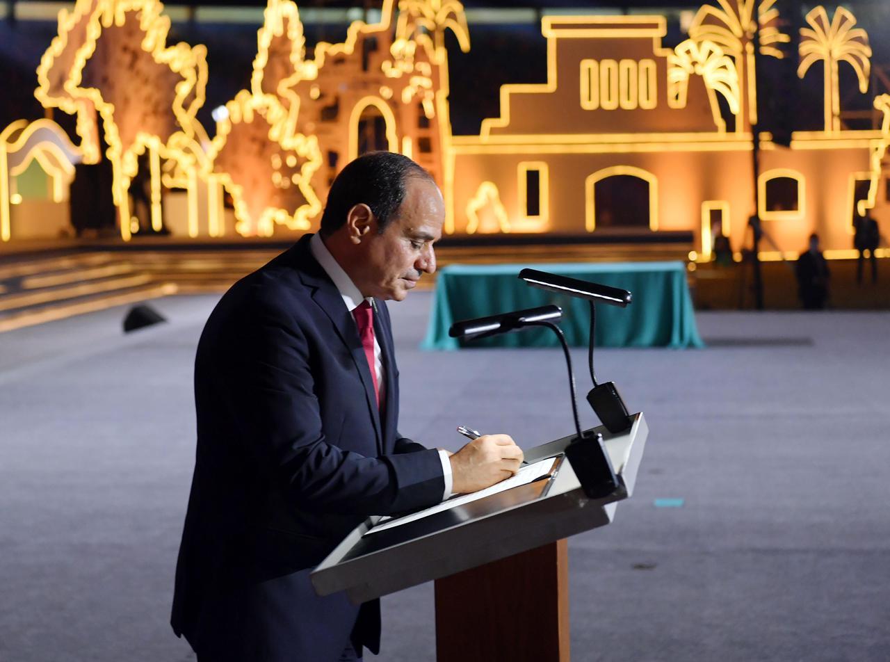 الرئيس السيسي يُدشن الجمهورية الجديدة ويوقع وثيقة مبادرة تطوير الريف المصري