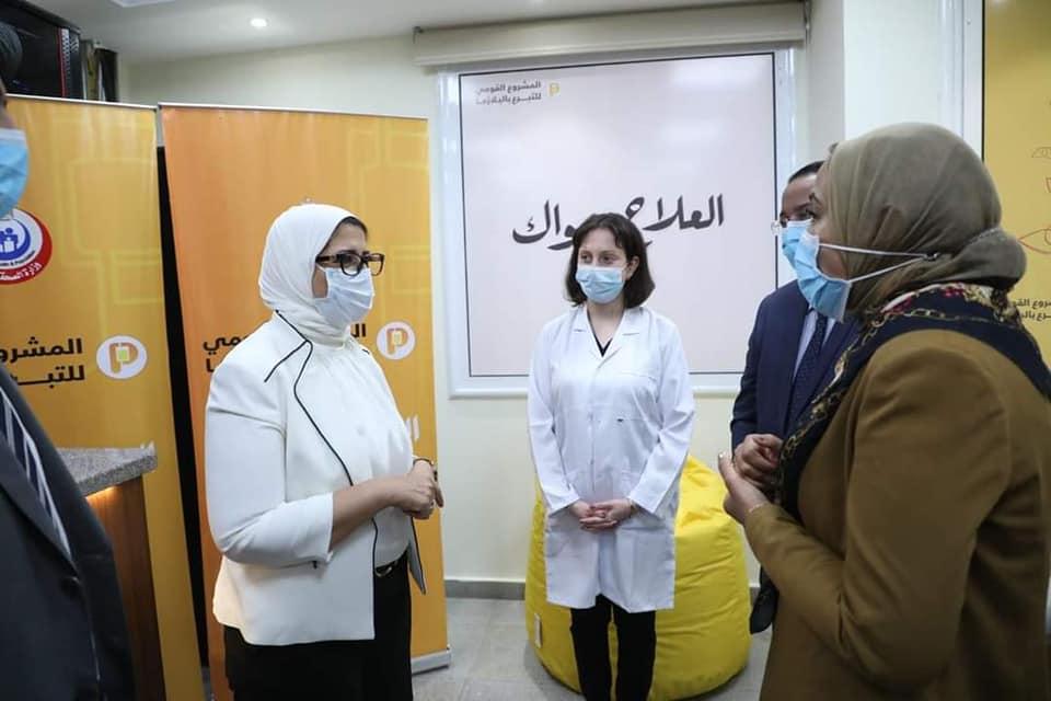 صور| وزيرة الصحة تتفقد مركز تجميع البلازما بالعباسية لمتابعة الاستعدادت النهائية للعمل بالمشروع القومي