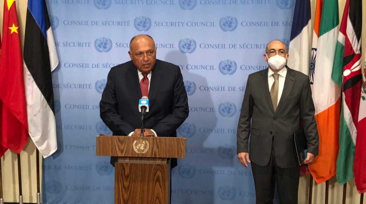 سامح شكري يوجه رسائل قوية خلال مؤتمر صحفي عقب جلسة مجلس الأمن