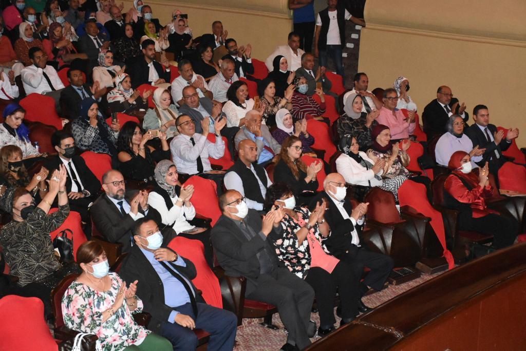 صور| وزيرة الثقافة تشهد احتفالية كوكب الشرق بأوبرا الاسكندرية