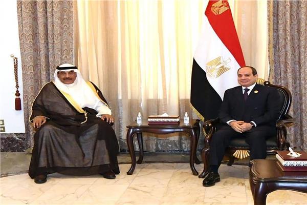 السيسي لرئيس وزراء الكويت: حريصون على تطوير التعاون الوثيق والمتميز بين البلدين