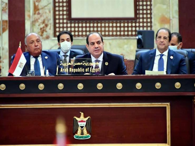 نص كلمة الرئيس السيسي أمام قمة بغداد للتعاون والشراكة