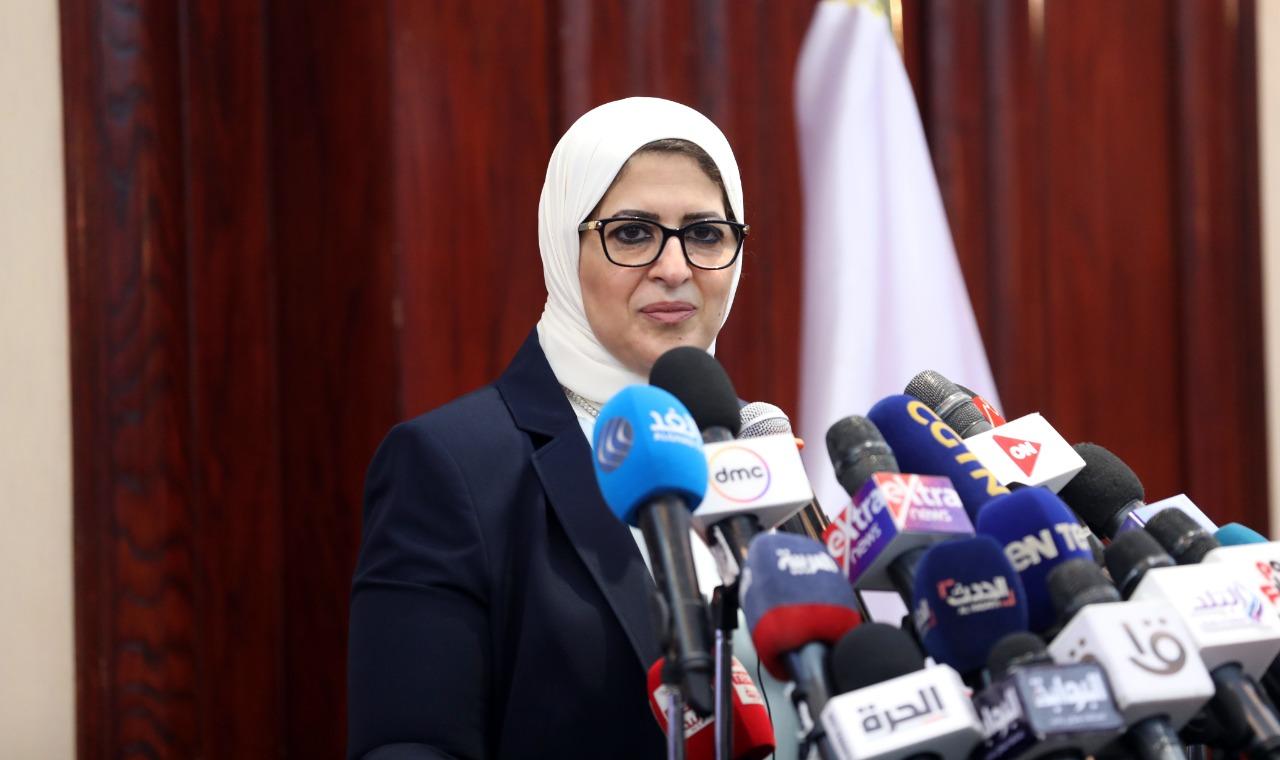 صور| وزيرة الصحة تستعرض الوضع الوبائي لفيروس كورونا بمصر وآخر مستجدات منظومة تلقي اللقاحات
