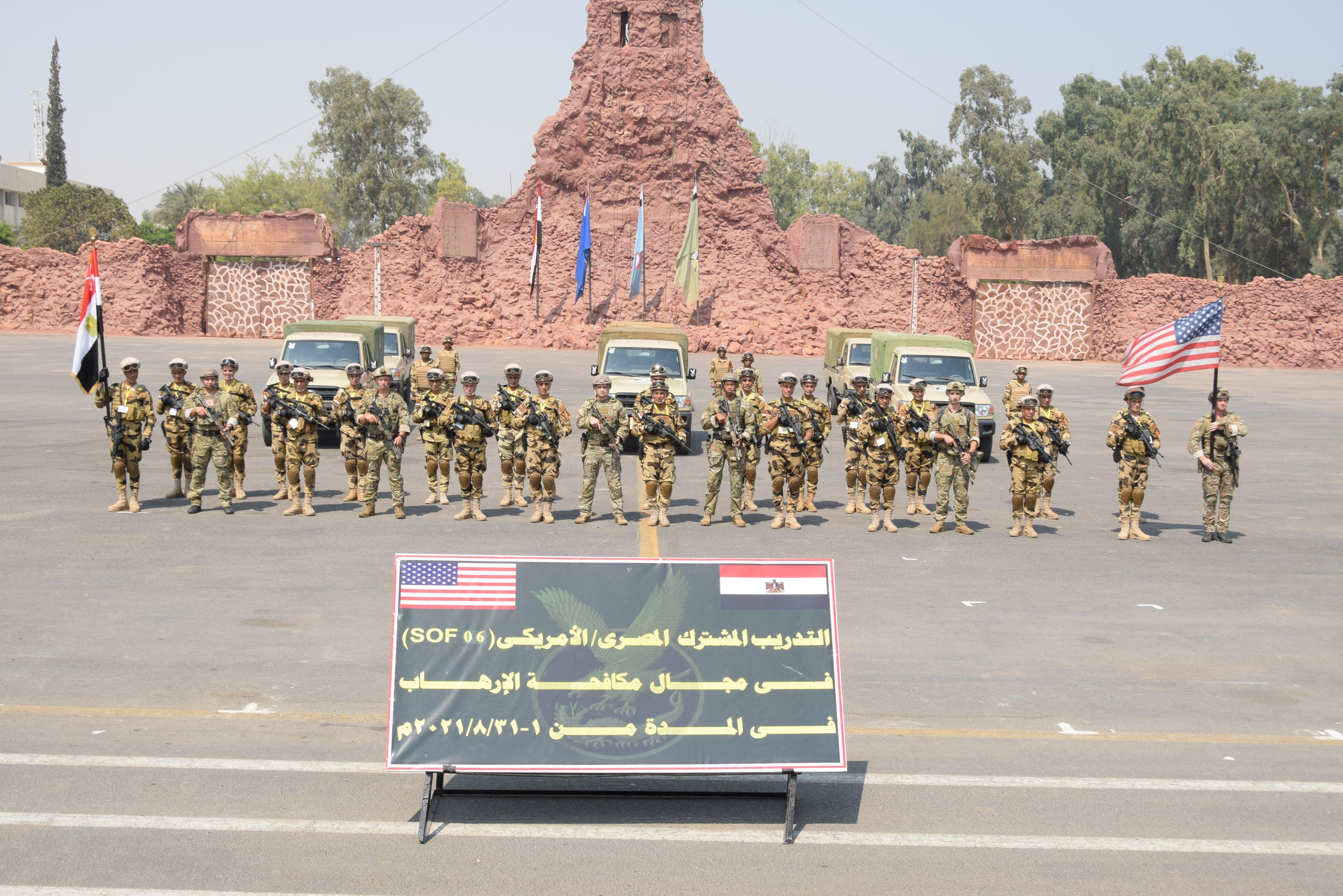 صور| اختتام فعاليات التدريب المصري الأمريكي المشترك لمكافحة الإرهاب
