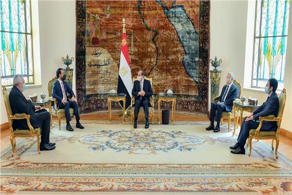 الرئيس السيسي يستقبل رئيس النواب العراقي