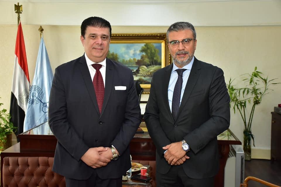 صور| حسين زين يلتقى المدير العام  لاتحاد إذاعات الدول الإسلامية