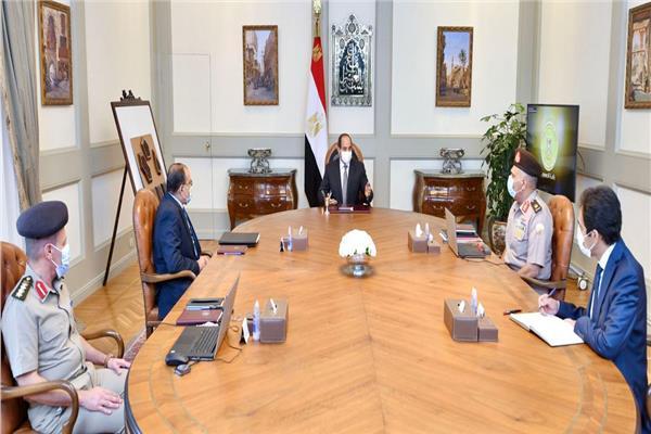 الرئيس السيسي يتابع الموقف التنفيذي لعدد من مشروعات الهيئة الهندسية على مستوى الجمهورية