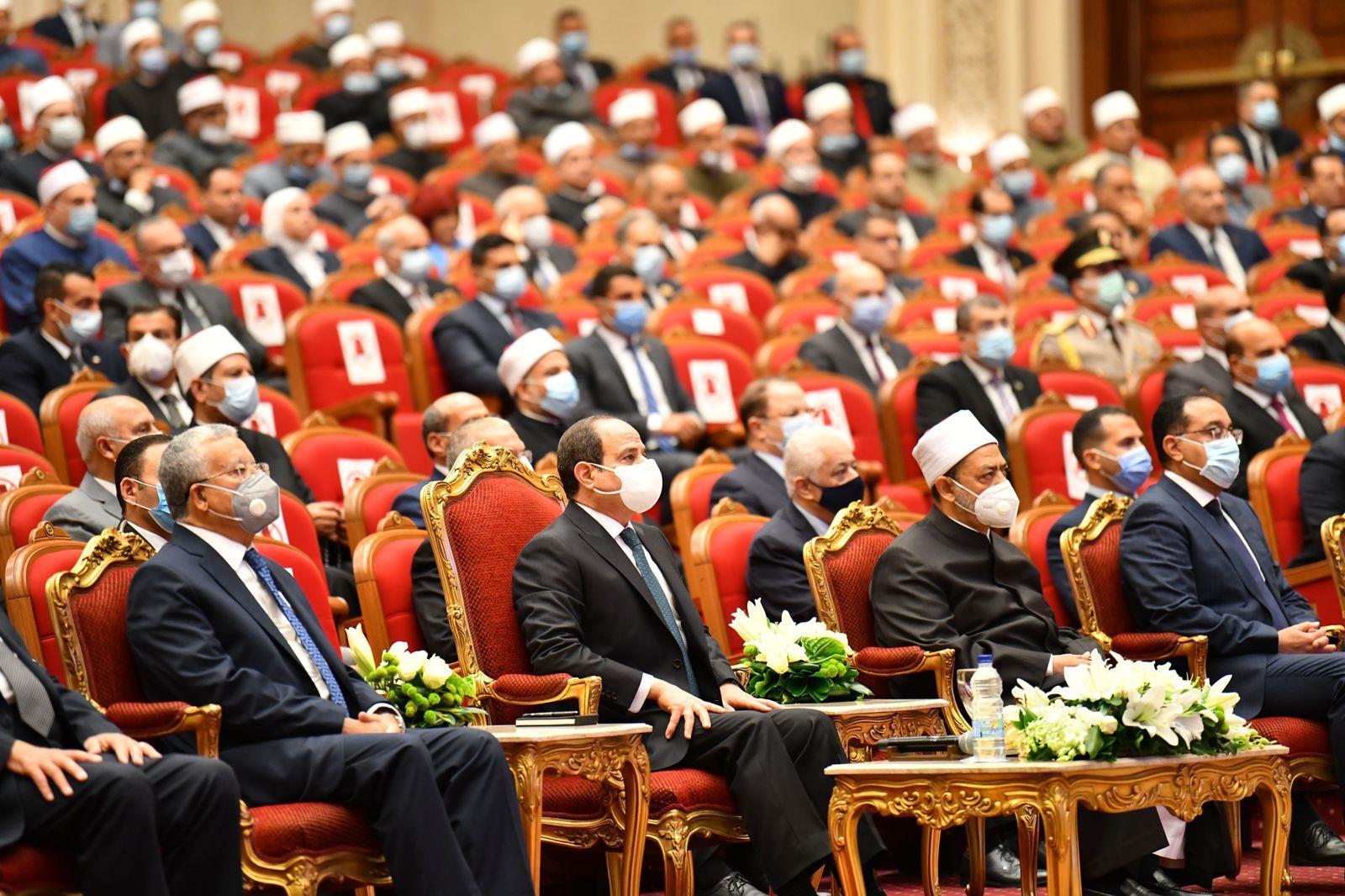 صور| احتفالية المولد النبوي الشريف بحضور الرئيس السيسي