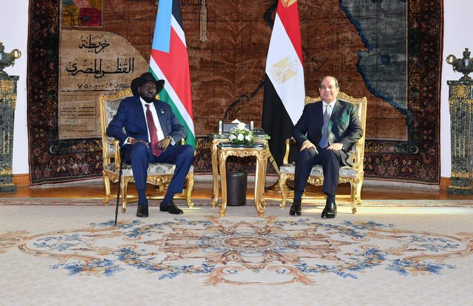 صور  استقبال ومباحثات الرئيس السيسي وسيلفا كير بقصر الاتحادية